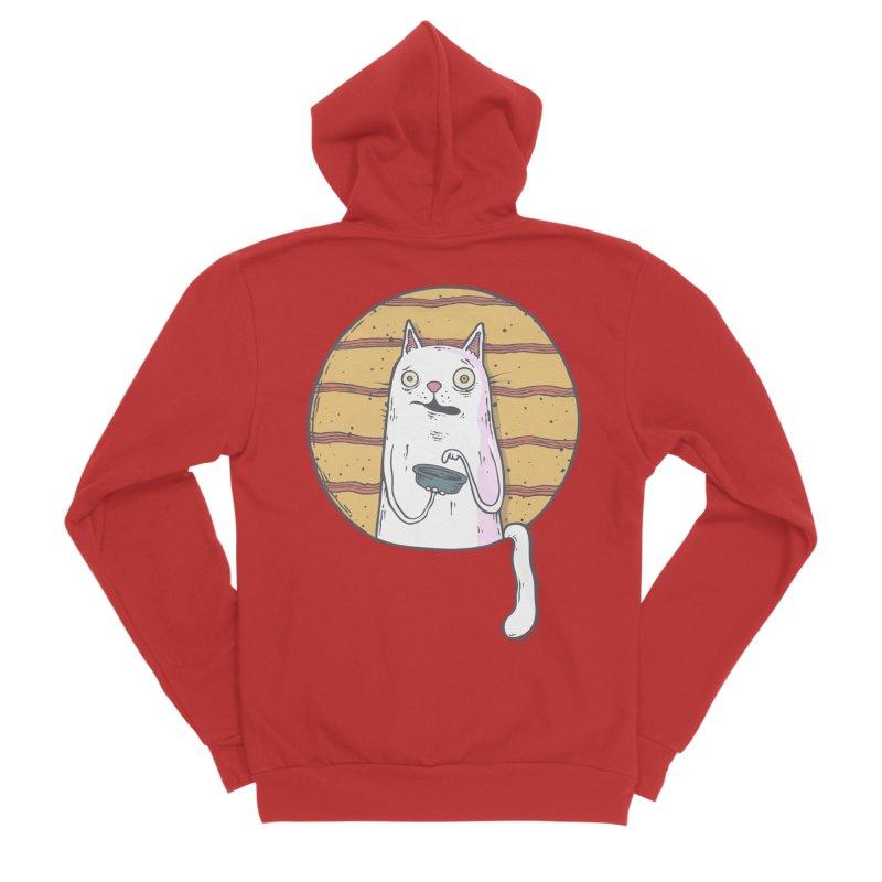 Starving cat Women's Sponge Fleece Zip-Up Hoody by Magnus Blomster