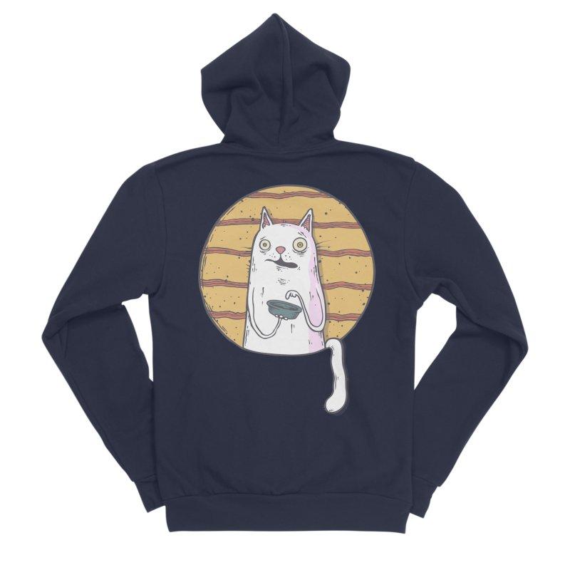 Starving cat Men's Sponge Fleece Zip-Up Hoody by Magnus Blomster