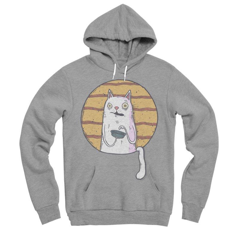 Starving cat Men's Sponge Fleece Pullover Hoody by Magnus Blomster