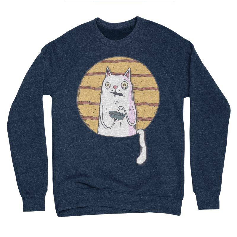 Starving cat Men's Sponge Fleece Sweatshirt by Magnus Blomster