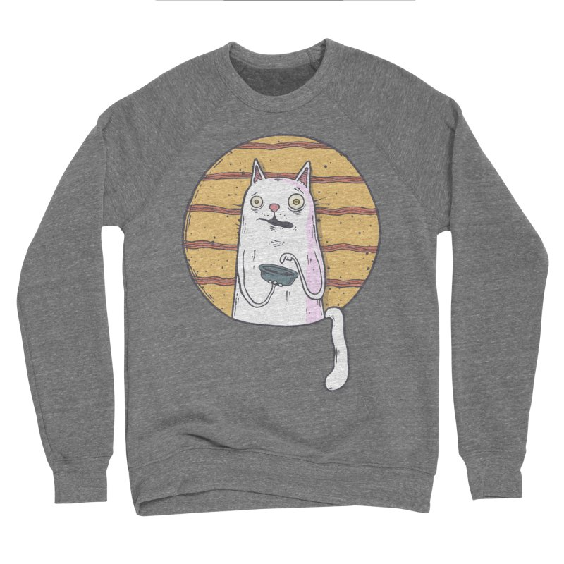 Starving cat Women's Sponge Fleece Sweatshirt by Magnus Blomster