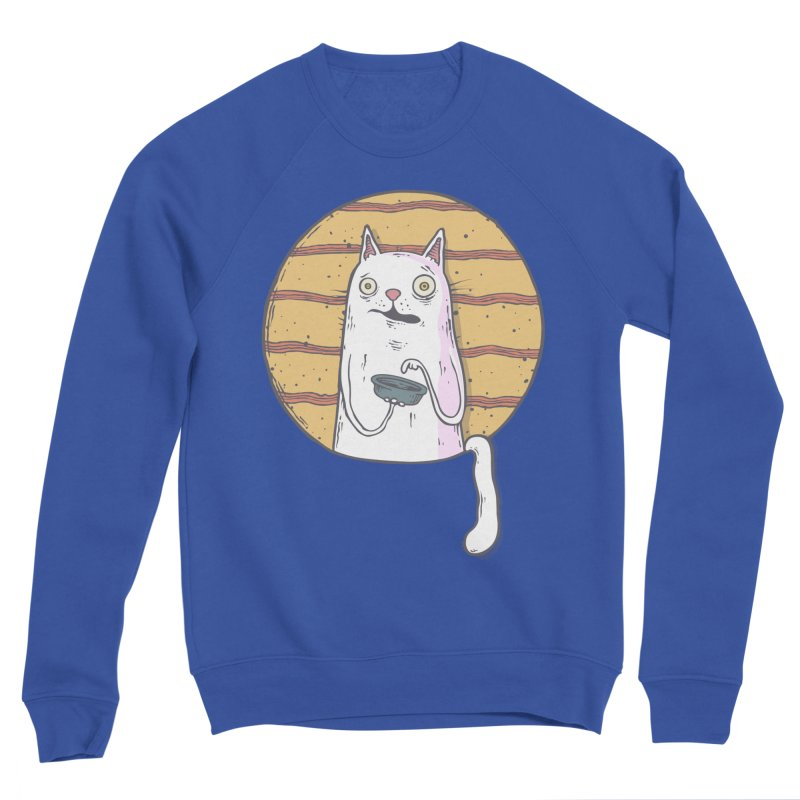 Starving cat Men's Sponge Fleece Sweatshirt by Magnus Blomster