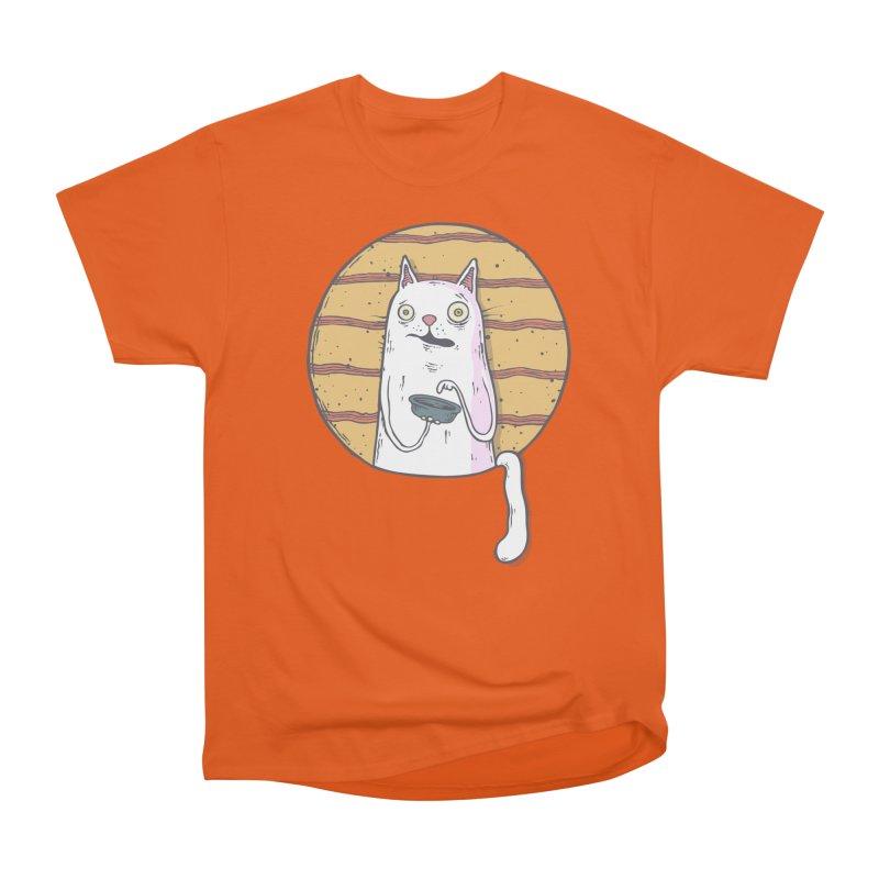 Starving cat Men's T-Shirt by Magnus Blomster