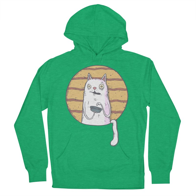 Starving cat Women's French Terry Pullover Hoody by Magnus Blomster