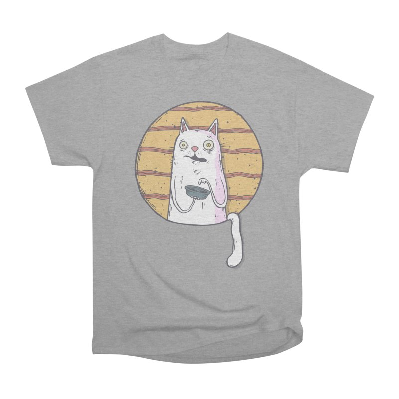 Starving cat Women's Heavyweight Unisex T-Shirt by Magnus Blomster