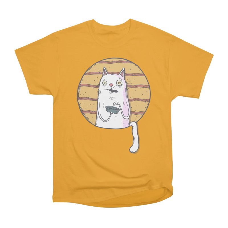 Starving cat Men's Heavyweight T-Shirt by Magnus Blomster