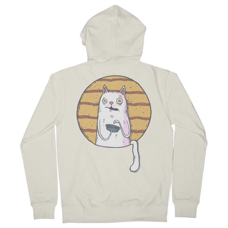 Starving cat Women's French Terry Zip-Up Hoody by Magnus Blomster
