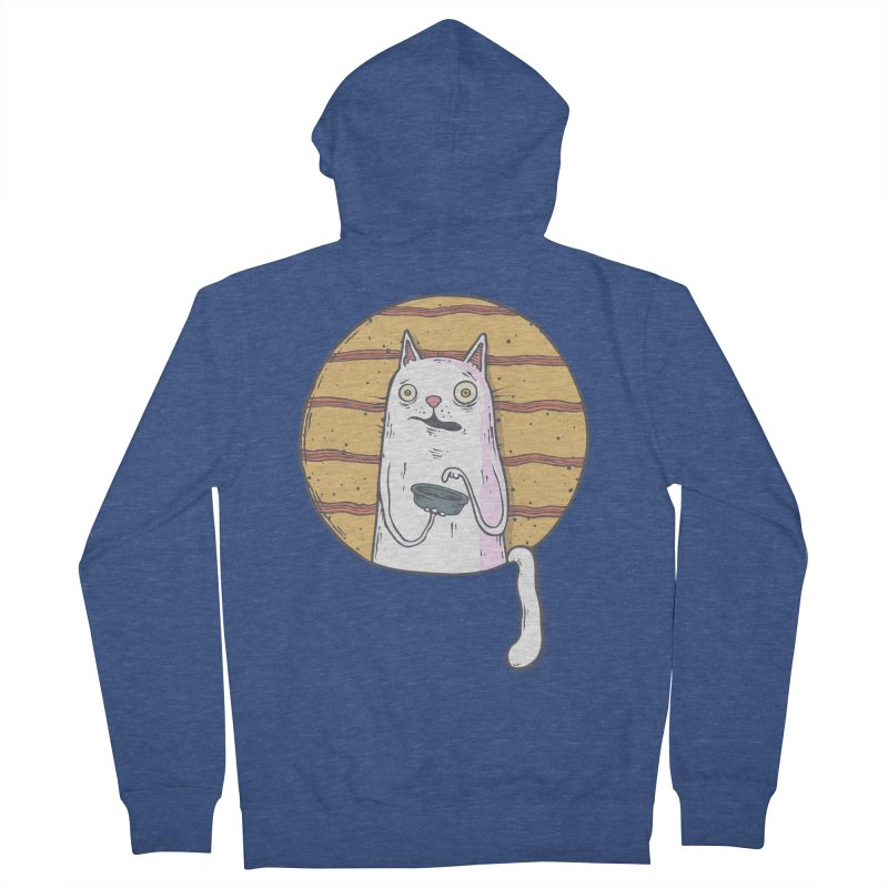Starving cat Men's French Terry Zip-Up Hoody by Magnus Blomster