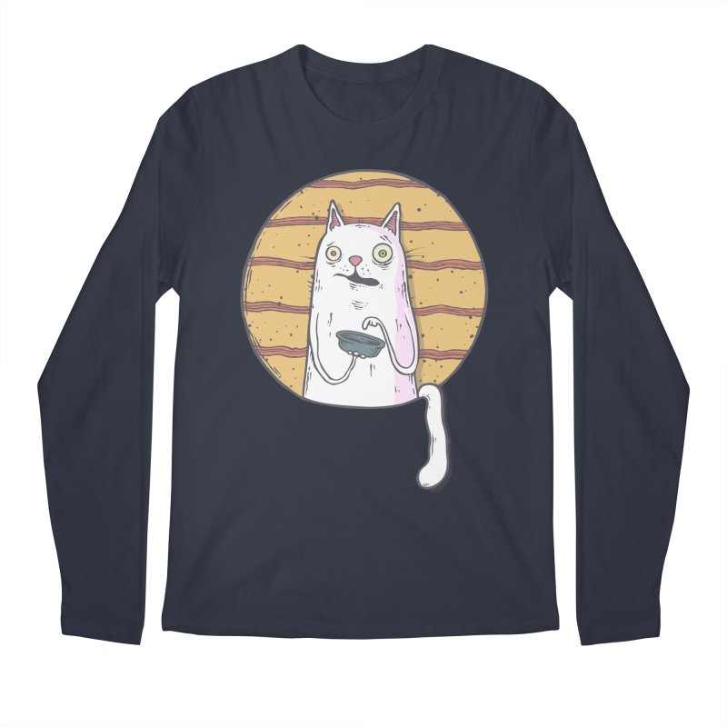 Starving cat Men's Regular Longsleeve T-Shirt by Magnus Blomster