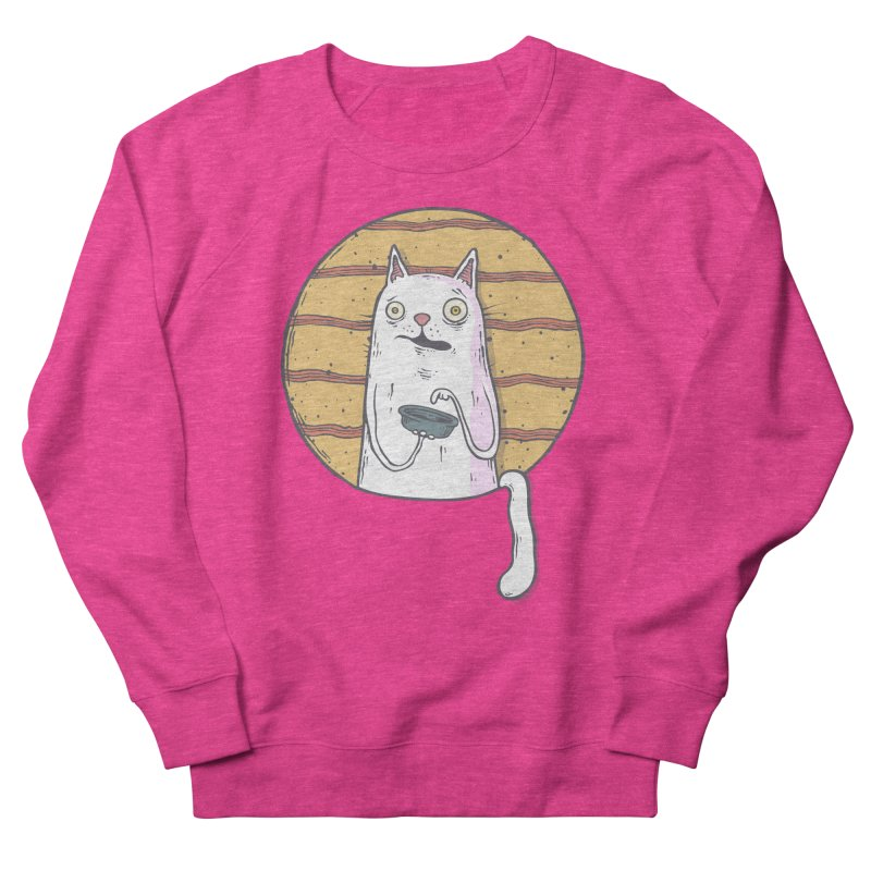 Starving cat Women's French Terry Sweatshirt by Magnus Blomster