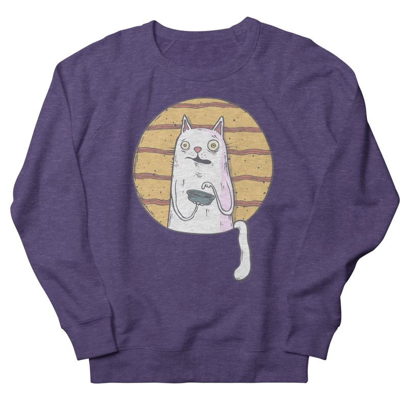 Starving cat Men's French Terry Sweatshirt by Magnus Blomster