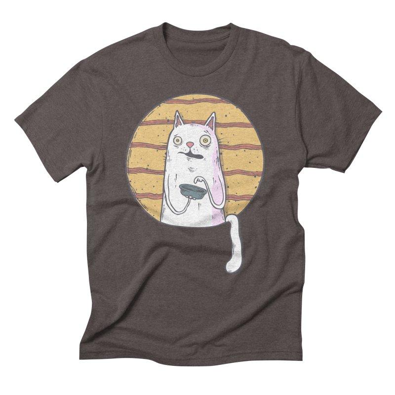Starving cat Men's Triblend T-Shirt by Magnus Blomster