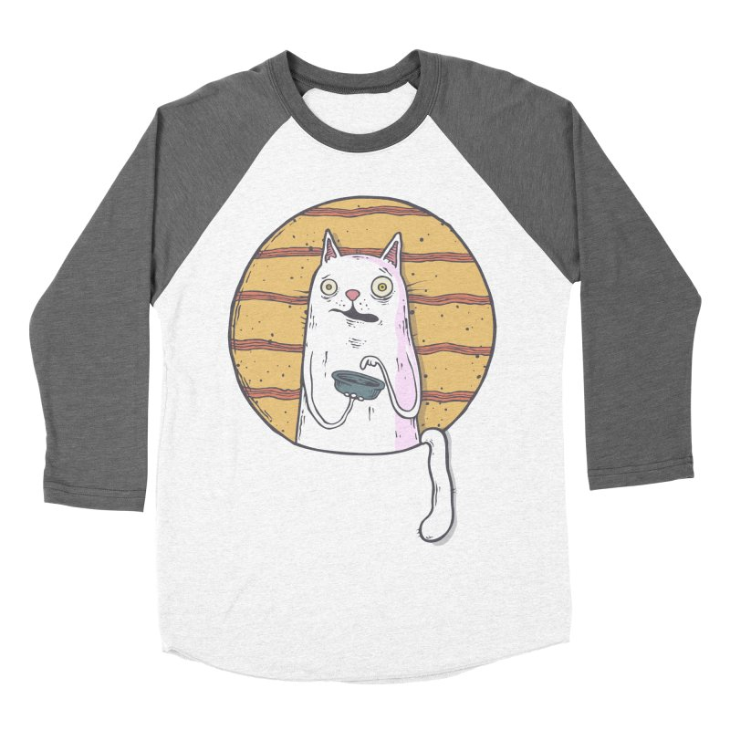 Starving cat Women's Baseball Triblend Longsleeve T-Shirt by Magnus Blomster