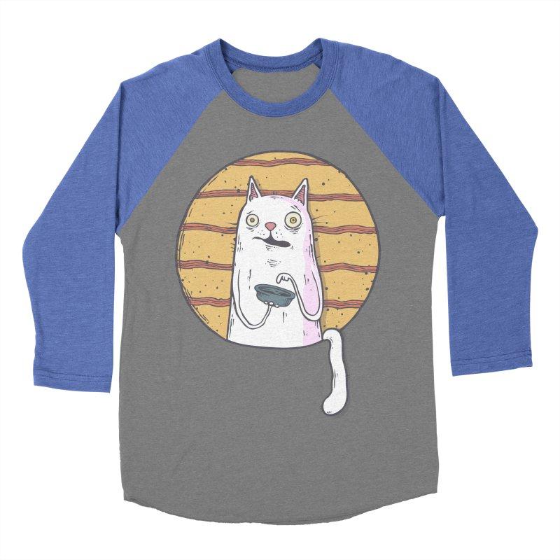 Starving cat Men's Baseball Triblend Longsleeve T-Shirt by Magnus Blomster