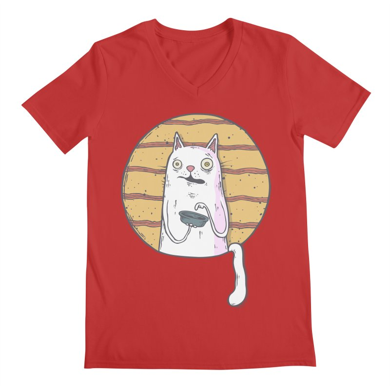 Starving cat Men's Regular V-Neck by Magnus Blomster