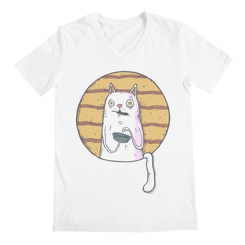 Starving cat Men's V-Neck by Magnus Blomster