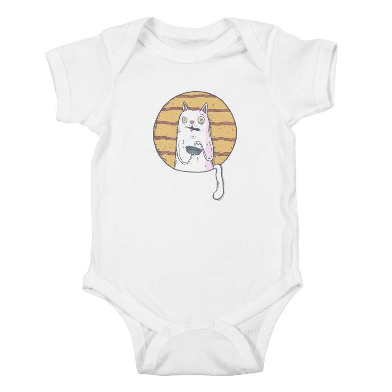 Starving cat Kids Baby Bodysuit by Magnus Blomster