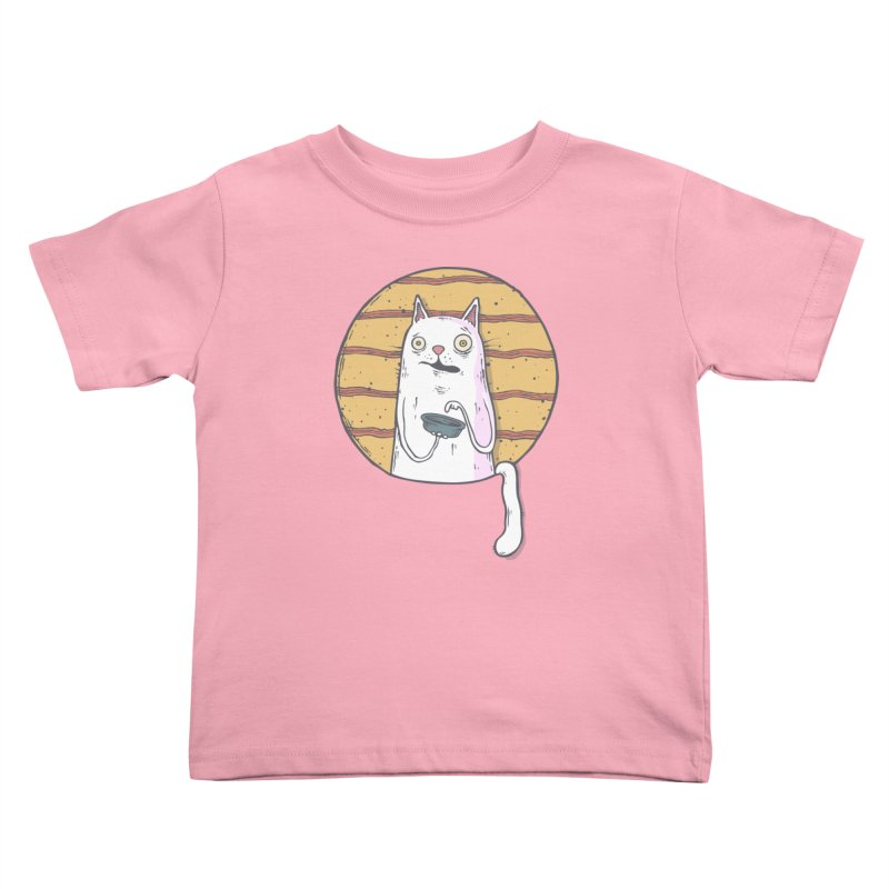 Starving cat Kids Toddler T-Shirt by Magnus Blomster