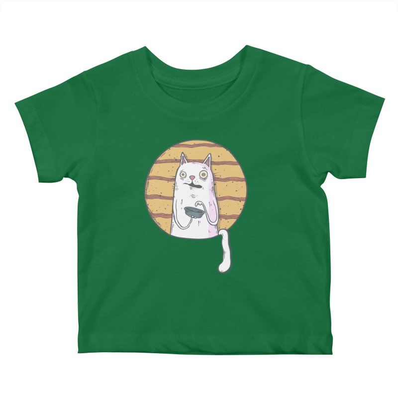 Starving cat Kids Baby T-Shirt by Magnus Blomster