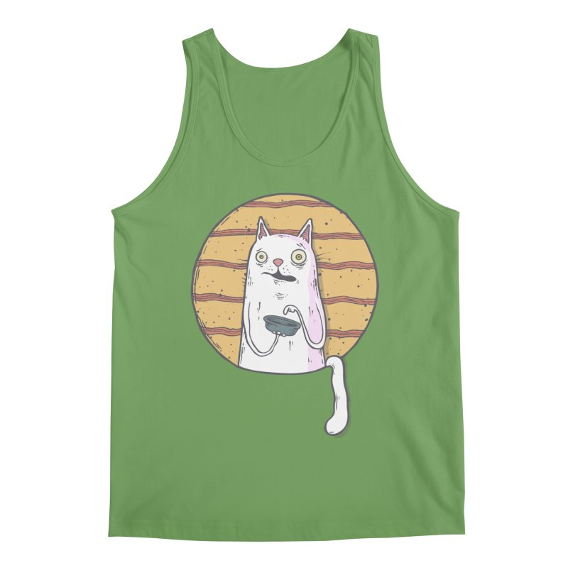 Starving cat Men's Tank by Magnus Blomster