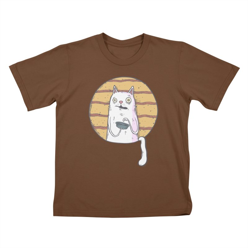 Starving cat Kids T-Shirt by Magnus Blomster