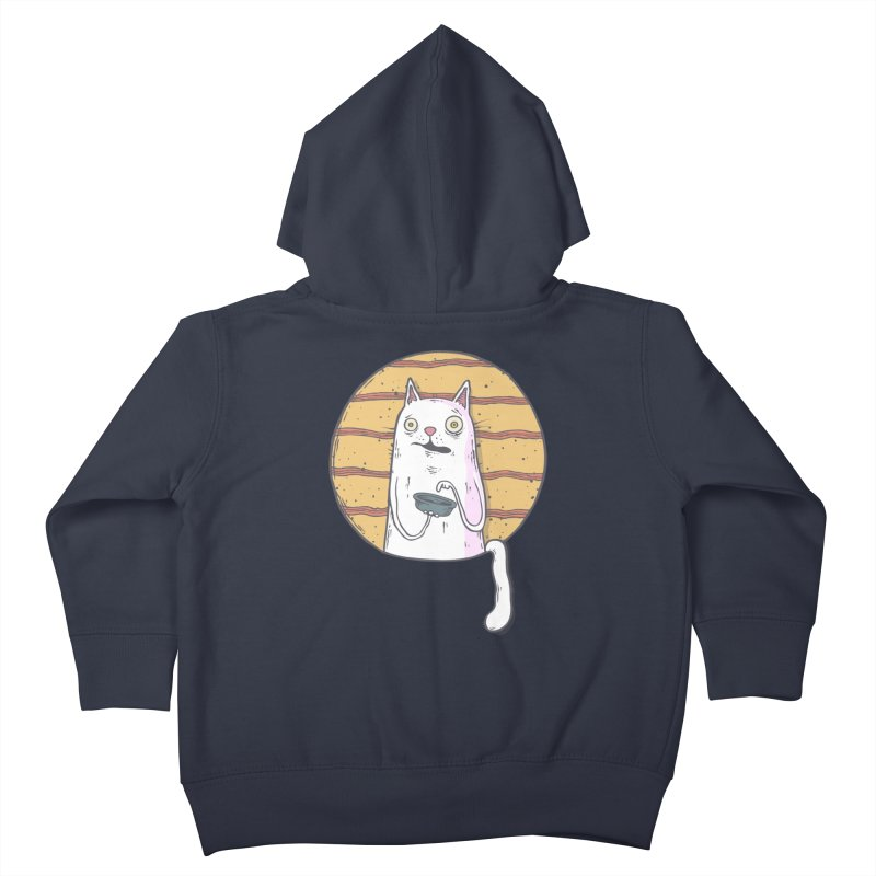 Starving cat Kids Toddler Zip-Up Hoody by Magnus Blomster