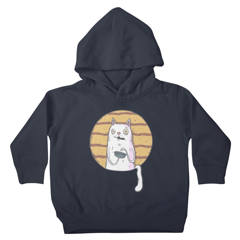 Starving cat Kids Toddler Pullover Hoody by Magnus Blomster