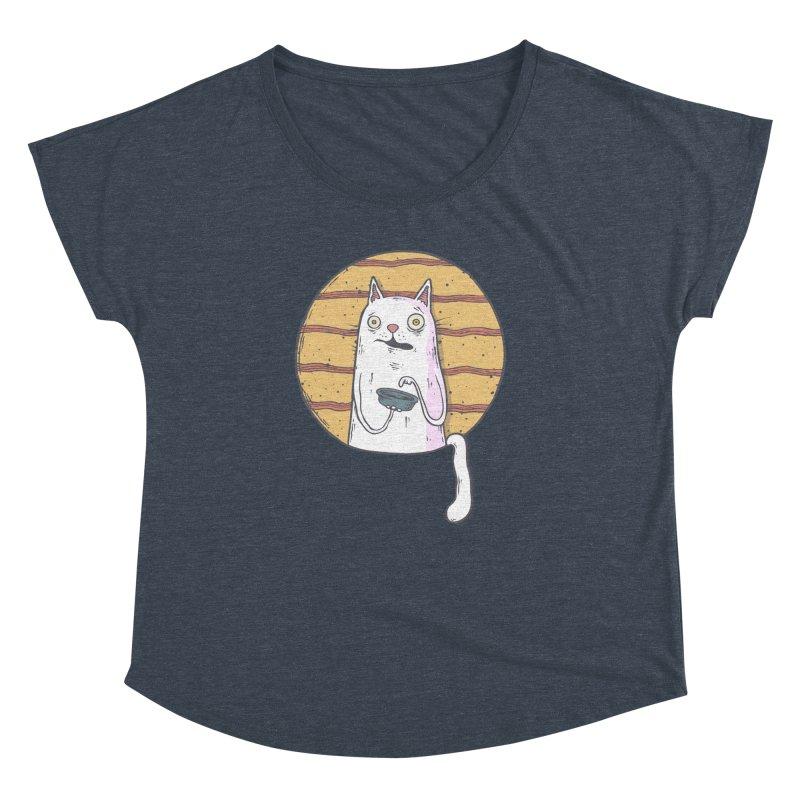 Starving cat Women's Dolman Scoop Neck by Magnus Blomster