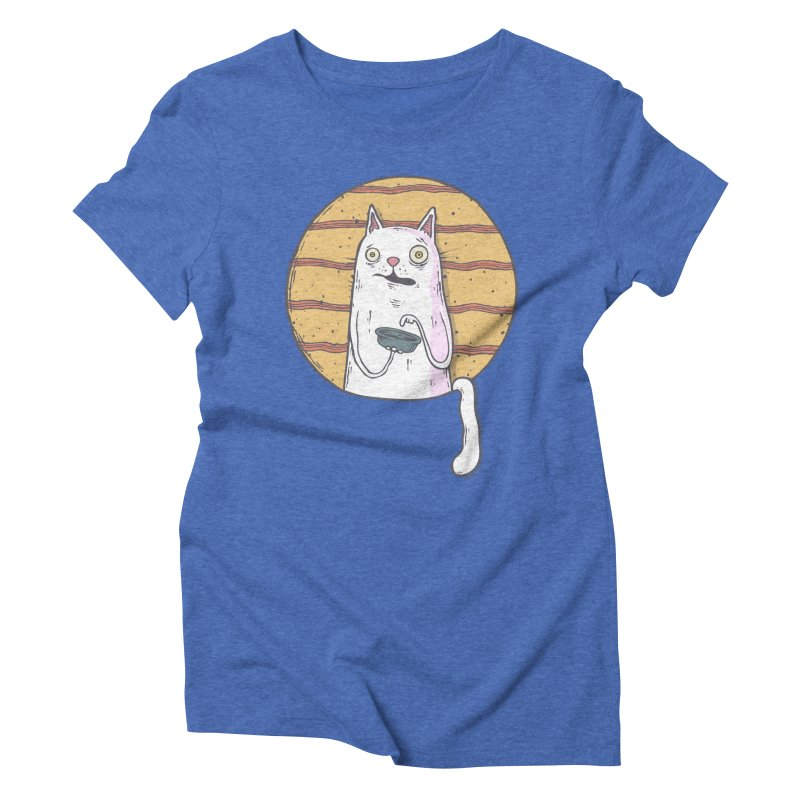 Starving cat Women's Triblend T-Shirt by Magnus Blomster