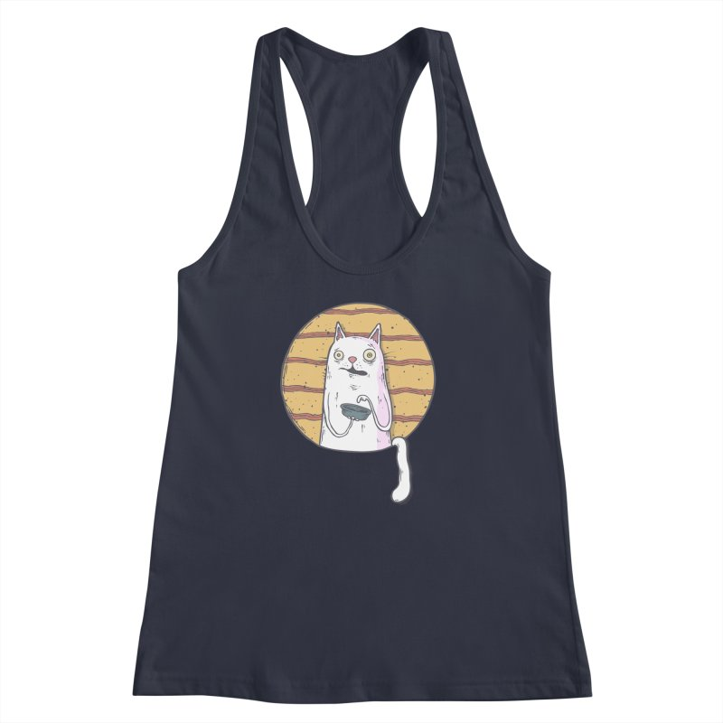 Starving cat Women's Racerback Tank by Magnus Blomster