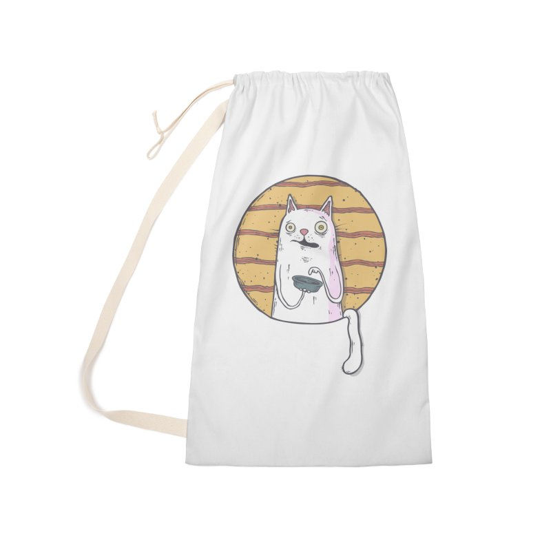 Starving cat Accessories Laundry Bag Bag by Magnus Blomster