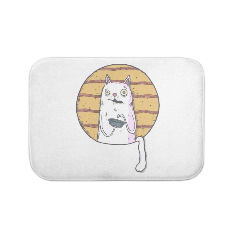 Starving cat Home Bath Mat by Magnus Blomster