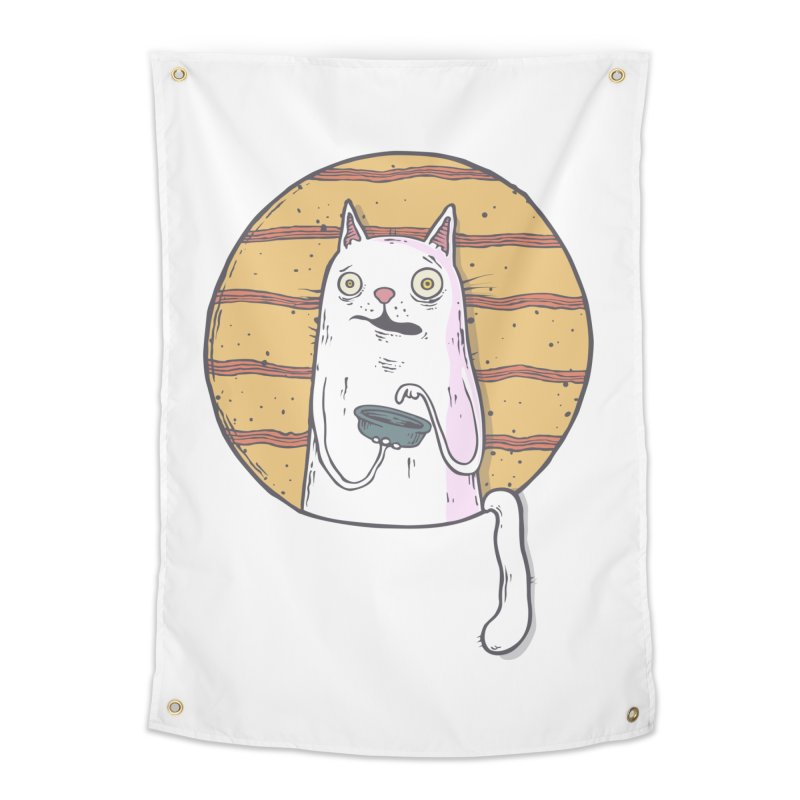 Starving cat Home Tapestry by Magnus Blomster