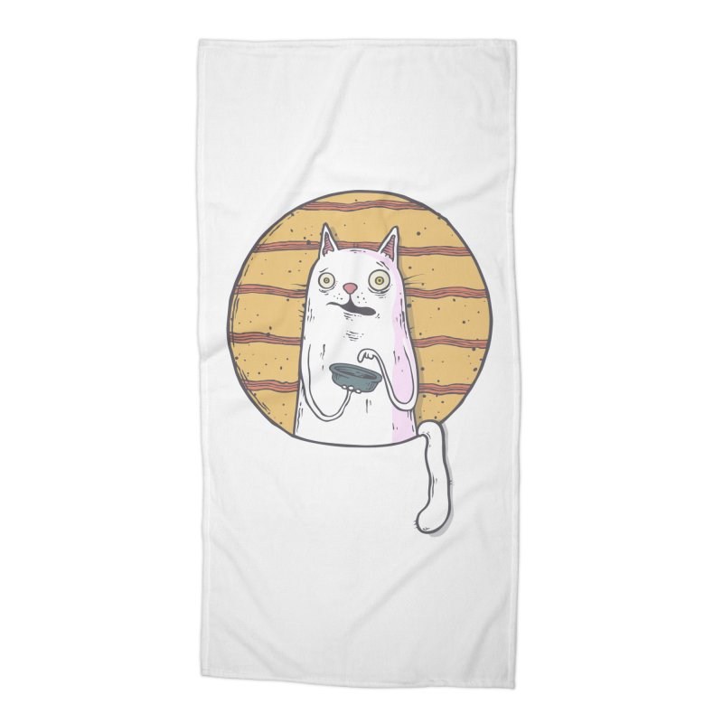 Starving cat Accessories Beach Towel by Magnus Blomster