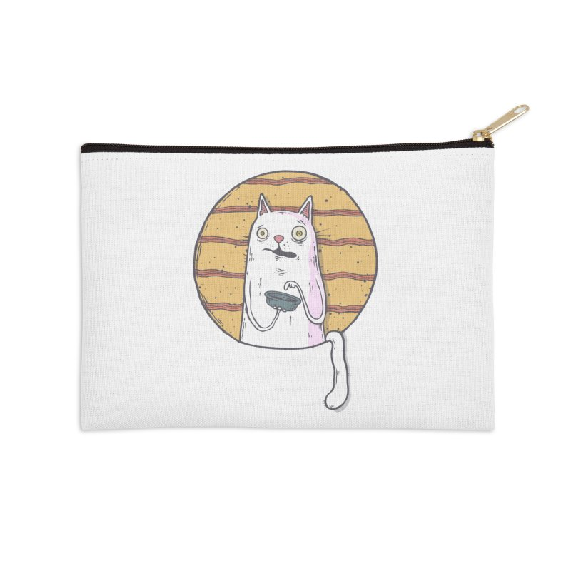 Starving cat Accessories Zip Pouch by Magnus Blomster