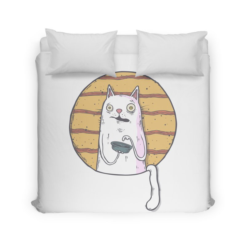 Starving cat Home Duvet by Magnus Blomster