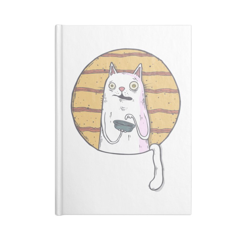 Starving cat Accessories Lined Journal Notebook by Magnus Blomster