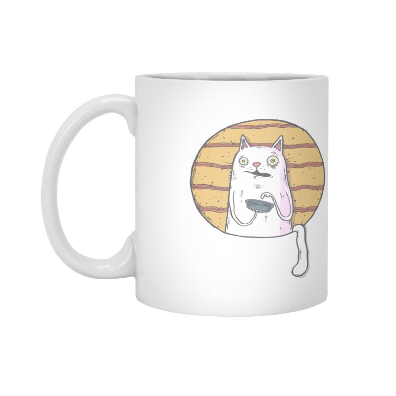 Starving cat Accessories Mug by Magnus Blomster