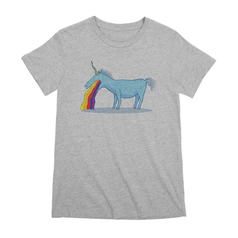Puke-icorn Women's Premium T-Shirt by Magnus Blomster