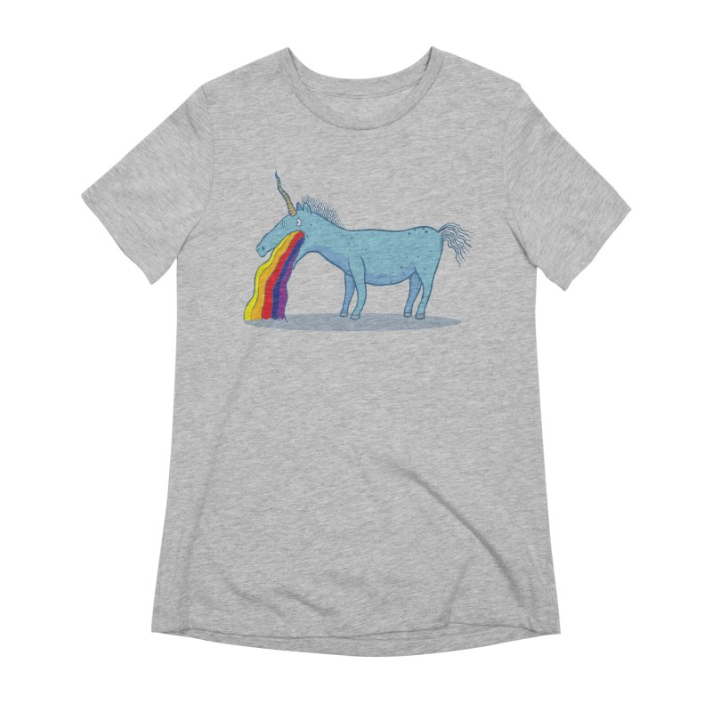Puke-icorn Women's Extra Soft T-Shirt by Magnus Blomster