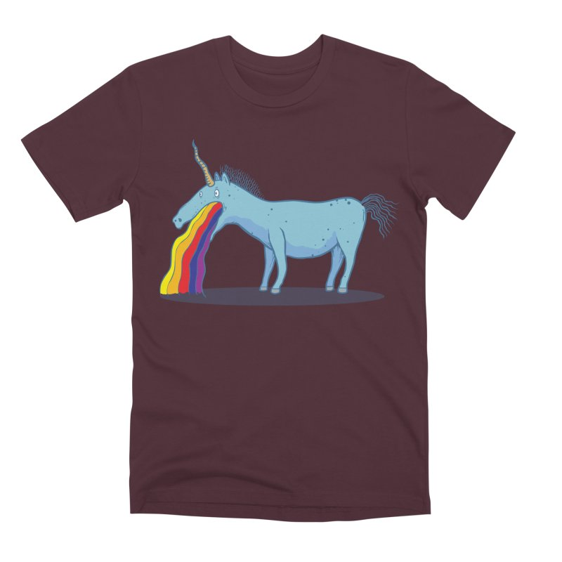 Puke-icorn Men's Premium T-Shirt by Magnus Blomster