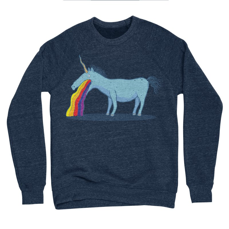 Puke-icorn Men's Sponge Fleece Sweatshirt by Magnus Blomster