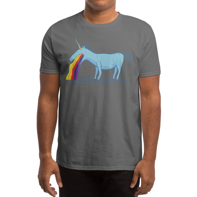Puke-icorn Men's T-Shirt by Magnus Blomster