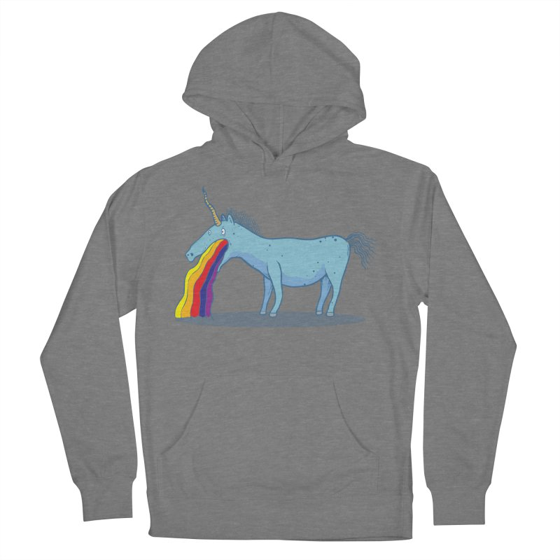 Puke-icorn Women's French Terry Pullover Hoody by Magnus Blomster
