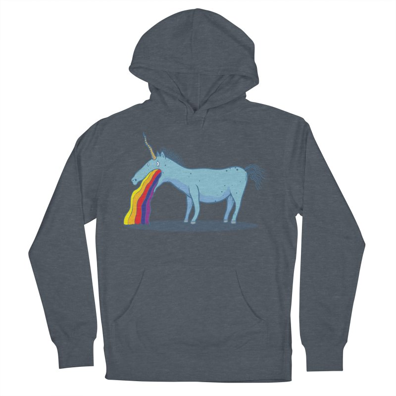 Puke-icorn Men's French Terry Pullover Hoody by Magnus Blomster