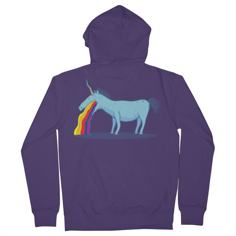 Puke-icorn Women's French Terry Zip-Up Hoody by Magnus Blomster