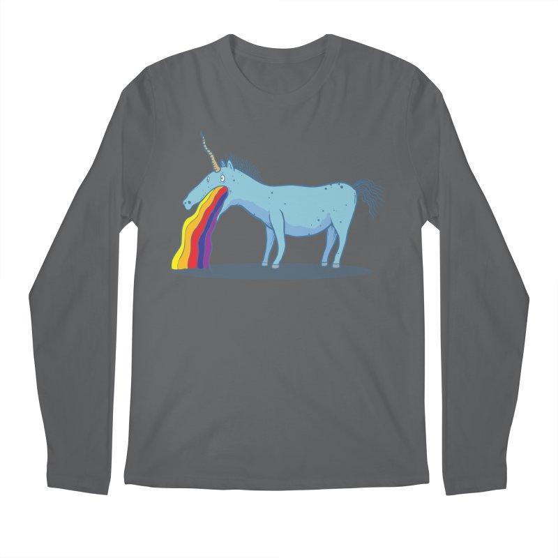 Puke-icorn Men's Longsleeve T-Shirt by Magnus Blomster