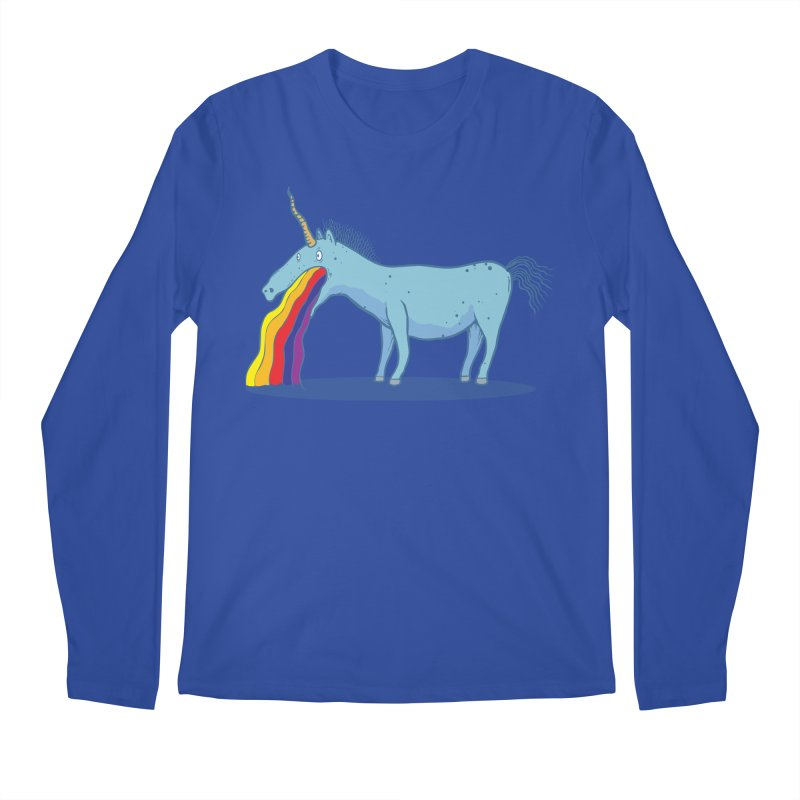 Puke-icorn Men's Regular Longsleeve T-Shirt by Magnus Blomster