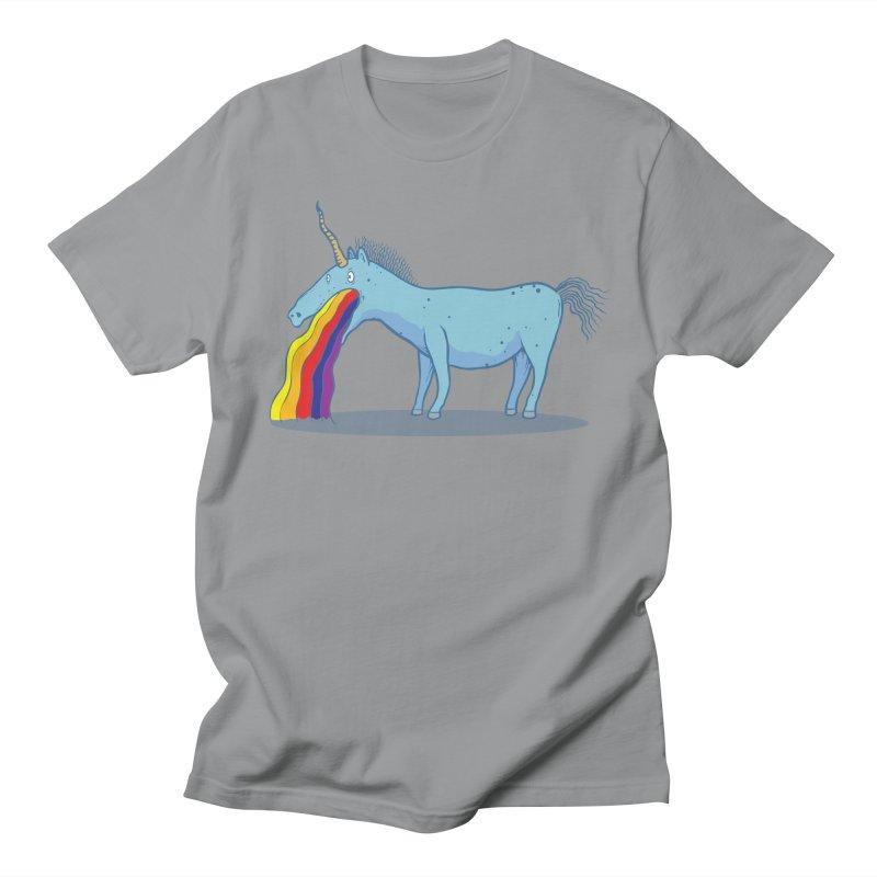 Puke-icorn Women's Regular Unisex T-Shirt by Magnus Blomster