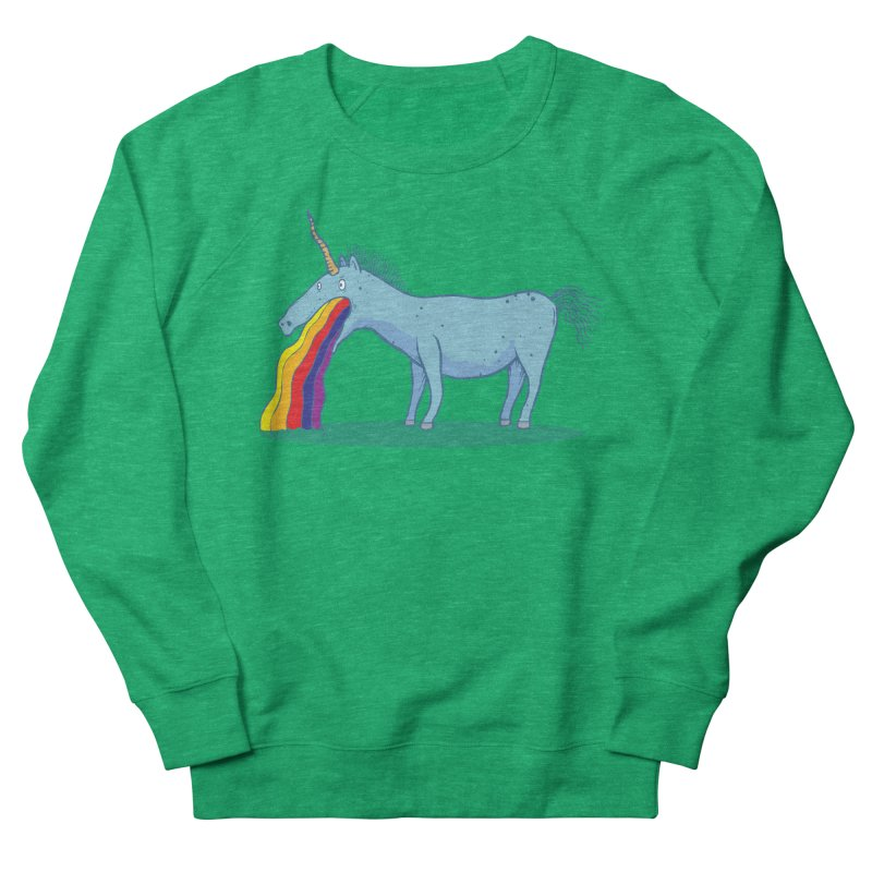 Puke-icorn Women's French Terry Sweatshirt by Magnus Blomster